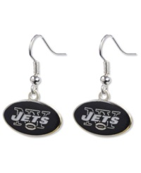 Aminco New York Jets Logo Drop Earrings Team Color