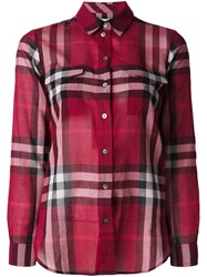 Burberry Brit Checked Longsleeved Shirt Red