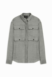 Anthony Vaccarello Four Pocket Shirt Grey