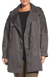 Kristen Blake Plus Size Women's 'Tech Rain' Water Repellent Trench Coat