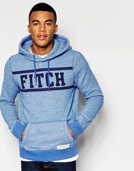 Abercrombie And Fitch Hoodie In Core Overhead Slim Muscle Fit In Blue Blue