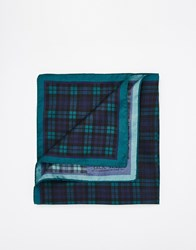 Jack Wills Plumptree Blackwatch Pocket Square Blue