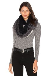 Michael Stars Seeded Ombre Eternity Scarf Black