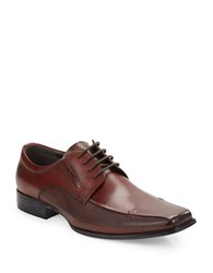 Kenneth Cole Reaction Self Review Lace Up Loafers Cognac