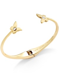 Kate Spade New York 12K Gold Plated Crystal Accent Butterfly Cuff Bracelet
