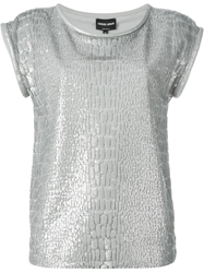 Giorgio Armani Sequin Embellished T Shirt Grey