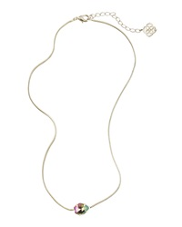 Kendra Scott Mara Iridescent Crystal Pendant Necklace Black