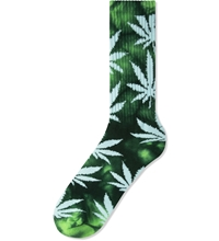 Huf Lime Dark Green Tie Dye Plantlife Socks