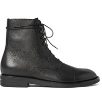 Maison Martin Margiela Grained Leather Boots Black