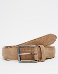 New Look Belt In Faux Suede Tan
