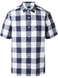Burberry Brit Shortsleeved Checked Shirt Blue