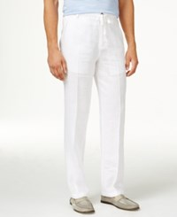 Tasso Elba Big And Tall Drawstring Pants Only At Macy's White