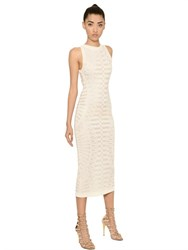 Balmain Stretch Viscose Jacquard Pencil Dress
