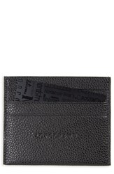 Longchamp Women's 'Le Foulonne' Pebbled Leather Card Holder