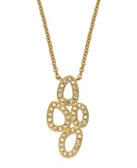 Eliot Danori Necklace 18K Gold Plated Pave Cluster Necklace