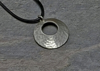 Hammered Sterling Silver Disc Necklace Handmade With By Nicilaskin