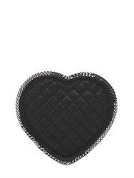 Stella Mccartney Heart Quilted Shaggy Faux Deer Bag