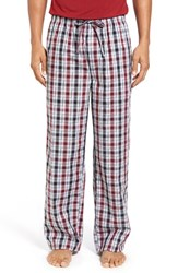 Nordstrom Men's Big And Tall Men's Shop Woven Lounge Pants Black Red Grey Plaid
