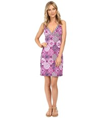 Tommy Bahama Tile Of Tropics V Neck Spa Dress Cover Up Wild Orchid Pink Women's Swimwear