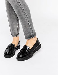 London Rebel Chunky Loafers Black Patent