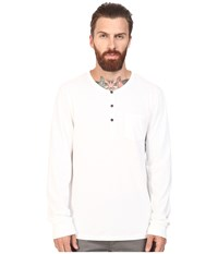 Alternative Apparel Organic Classic Classic Henley White Men's Long Sleeve Pullover