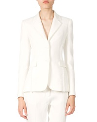 Altuzarra Fringe Seam Two Button Blazer Natural