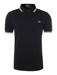 Fred Perry Slim Fitted Twin Tipped Polo Shirt Navy