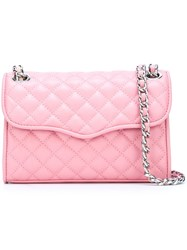 Rebecca Minkoff Quilted Crossbody Bag Pink And Purple