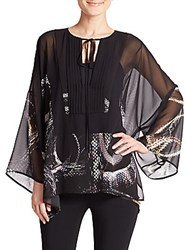 Just Cavalli Snake Print Tunic Black