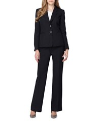 Tahari By Arthur S. Levine Shadow Stripe Jacket And Pant Suit Black