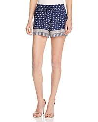 French Connection Castaway Drape Shorts Indian Ocean Multi