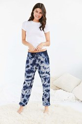 Out From Under Tie Dye Cozy Fleece Jogger Pant Blue