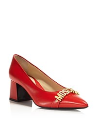 Moschino Flared Mid Heel Pumps