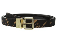 Cole Haan 25Mm Reversible Printed Haircalf To Patent Belt Black Splatter Black Women's Belts