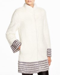 Maximilian Corduroy Mink Coat With Contrast Trim Bloomingdale's Exclusive White