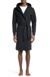 Wings Horns Men's Cabin Fleece Hooded Robe