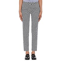 Harvey Faircloth Women's Checked Twill Pants No Color