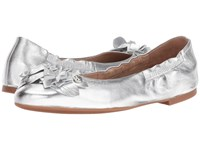 Tory Burch Blossom Ballet Silver Women's Flat Shoes