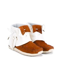 Visvim Beaded Leather And Suede Moccasins Brown White Beige Red Blue