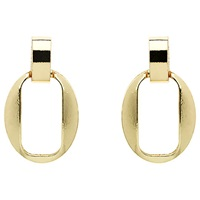 Monet Open Oval Stud Earrings Gold