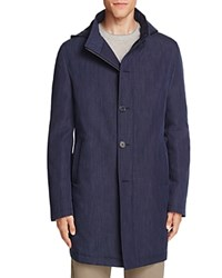 John Varvatos Star Usa Luxe Hooded Stand Collar Coat 100 Bloomingdale's Exclusive Blue