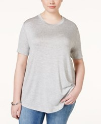 Stoosh Plus Size Basic T Shirt Heather Grey