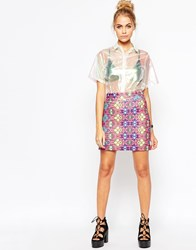 Jaded London Pink Festival Skirt Multi