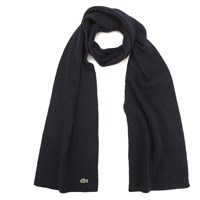 Lacoste Men's Ribbed Scarf Navy Blue
