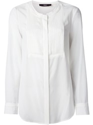 Steffen Schraut Pleated Bib Blouse White