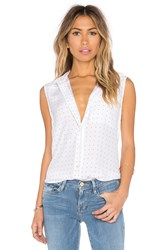 Frame Denim Le Sleeveless Button Up White