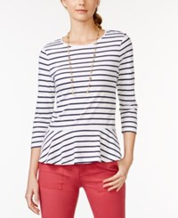American Living Striped Peplum Top Only At Macy's