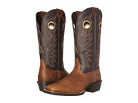 Ariat Sport Outrider Copper Kettle Desert Palm Cowboy Boots Brown