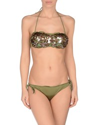 Twin Set Simona Barbieri Bikinis Military Green