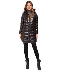 Duvetica Ace Long Quilted Down Coat All Black
